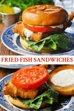 Skip the fast-food drive-thru or the beach-side seafood shack, because making classic Crispy Fried Fish Sandwiches at home is so easy! A battered cod fillet is topped with lettuce, tomato and tartar sauce and served on a toasted brioche bun. Best of all? The entire meal requires less than 30 minutes of actual hands-on time. Serve the sandwiches with coleslaw and hush puppies for the ultimate seafood feast! Fish Recipes, Seafood Recipes, Battered Cod, Brioche Bun, Homemade Tartar Sauce, Potato Wedges Baked, Fish Sandwich, Food Drive, Fresh Salsa
