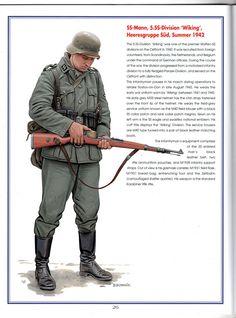 """Waffen SS - SS-Mann, 5a Waffen SS Panzer Division """"Wiking"""", Heeresgruppe Sud,1942 - Art by Zgonnik"""