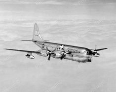 Boeing YC-97J Turboprop was a Conversion KC-97G with 4 x Pratt & Whitney YT34-P-5 Turboprops, Rated at: 5.700 hp each – 2 were Built