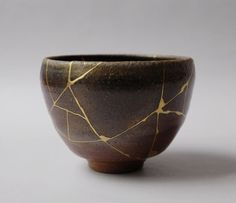 "abstrakshun: "" Kintsugi (金継ぎ?) (Japanese: golden joinery) or Kintsukuroi (金繕い?) (Japanese: golden repair) is the Japanese art of repairing broken pottery with lacquer dusted or mixed with powdered..."