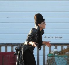 Awesome Lana (Evil Queen Regina) #Once #BTS #Once S6 E2 #ABitterDraught #StevestonVillage #RichmondBC #Canada Tuesday 7-19-16