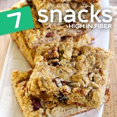 7 High-Fiber Snacks for Optimal Regularity Need a selection of high-fiber snacks to assist get you through the day? Increasing your fiber consumption with snacks is an excellent concept, because it […] High Fiber Snacks, High Fiber Breakfast, High Protein Snacks, Healthy Snacks, Protein Bars, Healthy Bars, Protein Cookies, Protein Recipes, Savory Snacks
