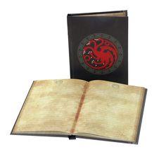 Game of Thrones Notizbuch mit Leuchtfunktion Targaryen  Game of Thrones Schreibwaren - Hadesflamme - Merchandise - Onlineshop für alles was das (Fan) Herz begehrt!