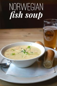 Norwegian fish soup from Geirangerfjord, one of the best things to eat in Norway and a classic Norwegian dish.