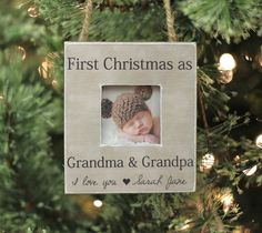 Grandparents Ornament Christmas GIFT Personalized Photo Ornament Gift First Christmas as Grandma and Grandpa New Baby