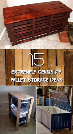 Great ways how to turn pallets into storage for home and outdoors.