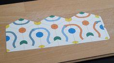 2- Coupez votre patron avec votre dessin seulement suivant le contour extérieur.