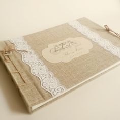 Another tandem bike themed wedding guest book.