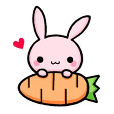 """""""Lapi"""" is a mischievous bunny. Being delightful, feeling sad, she is very busy. She has full of cute expression, hope you enjoy chatting with your friends! Cute Little Drawings, Cute Food Drawings, Cute Animal Drawings Kawaii, Cute Cartoon Drawings, Doodle Drawings, Food Drawing Easy, Easy Bunny Drawing, Easy Animal Drawings, Drawing Ideas"""