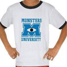 Monsters University Blue Logo Tshirt