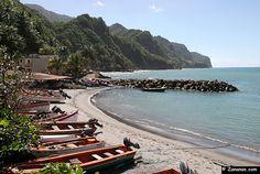 Nord Martinique : Le port de Grand-Rivière.