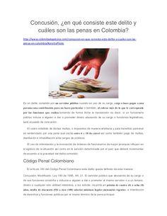 Concusión, en qué consiste este delito y cuáles son las penas en Colombia?