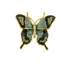 Hand enameled and gold plated butterfly lapel pin Daralis. $29.99. Hand enameled. A beautiful finishing touch to any outfit