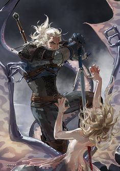 Geralt Watched the Witcher TV series and cleared Witcher 3 during the holidays. Witcher 3 Art, The Witcher Game, The Witcher Geralt, The Witcher Books, Witcher 3 Wild Hunt, Character Inspiration, Character Art, Character Design, Fantasy Anime