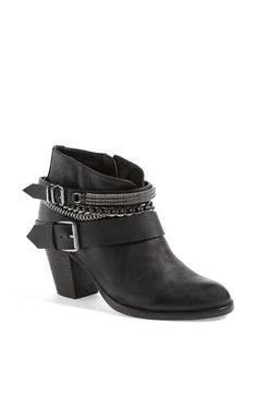 Love the chic layered look on these adorable leather booties