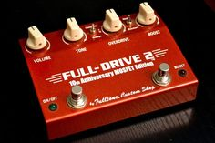 Fulltone Full-Drive 2 Mosfet - 10th Anniversary Fulldrive, Red, Awesome #Fulltone