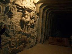 Salt mines of Soledar city in Ukraine located 300 m below the sea level can be reached by a speedy elevator