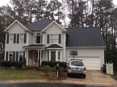 Finished this homeowners new GAF Timberline HD roof in Charcoal before the sleet/snow hit!