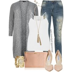 Plus Size - Casual Chic by alexawebb on Polyvore featuring maurices, Steve Madden, GiGi New York, Michael Kors, GUESS, J.Crew, Melinda Maria, outfit, plussize and plussizefashion