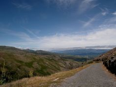 Paved road from Peneda Geres national park to the lowland of Spain - Portugal