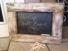 #DIY: Vintage Pallet Chalk Board - 10 Recycled & Upcycled Pallet ideas and projects   99 Pallets