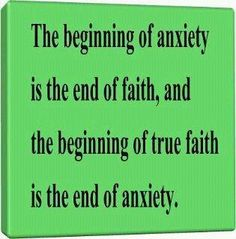 Be Anxious for Nothing :)