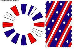 patriotic kumihimo pattern