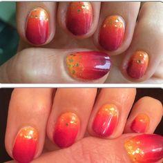 Wooo my #nails are on #fire ☀️ #gradient #manicure with #golden details. #mani #notd #nailsdid #nailsdone #nail #red #naillacquer  #nailvarnish #nailartwow #nailartclub #hot #nailgasm #nailitmag #nailstyle #naildesign #makeup #beauty #nailpolish #nailpromote #nailporn #nailart #nails2inspire