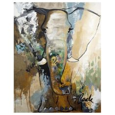 #ScandinavianArtFactory Elephant Touch, acrylic on canvas, and fit for any home.