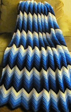 Ripples in the TidesA hand crochet zigzag by Noelsembellishments, $140.00