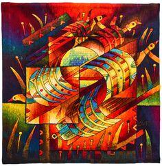 Handwoven Peruvian Tapestry Birds Square by MuseoMaximoLauraPeru