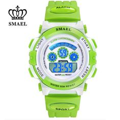 SMAEL 2017 New Fashion Casual Children Digital Watches Kids Waterproof LED Corlorful Clock Birthday Gift for Boys Girls relojes Sport Watches, Children's Watches, Wrist Watches, Girls Wrist Watch, S Shock, Clock For Kids, Grey Watch, Birthday Gifts For Boys, Waterproof Watch