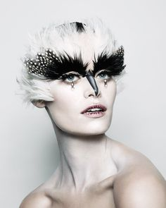 4 Last-Minute Halloween Beauty Ideas by Makeup Whiz Pat McGrath from the Ghoulish to the Glamorous - Gucci Makeup - Ideas of Gucci Makeup - Pat McGraths Halloween Makeup Creations: Clown Skeleton Bird and Glamorous Witch Sfx Makeup, Costume Makeup, Makeup Art, Beauty Makeup, Makeup Ideas, Doll Makeup, Makeup Primer, Makeup Inspo, Makeup Remover