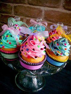 Confetti Faux Cupcakes