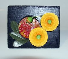 """A small quilled piece on natural slate from """"The Just Slate Company"""""""