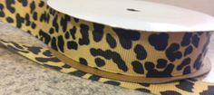 Items similar to Jungle Leopard Grosgrain RIBBON - Available in 10 or 100 yard spool - Width - Polyester on Etsy Wholesale Ribbon, Grosgrain Ribbon, Dog Bowls, Hair Bows, Yard, Etsy, Ribbon Hair Ties, Patio, Yards