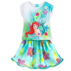 Disney Little Mermaid Ariel Top & Skirt Set