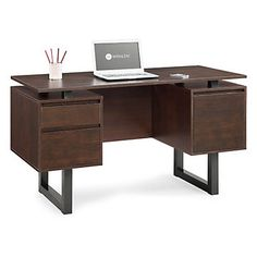Cooper Modern Floating Top Computer Desk // Function and design come