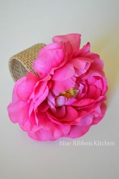 Rose napkin rings pinterest shower curtain ring diy flower and springtime inspired flower napkin rings mightylinksfo