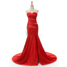Buy Fashion Classic Sweetheart Mermaid Red Long Evening / Prom Dress Elegant Evening Dresses under $138.99 only in MissDressesy.