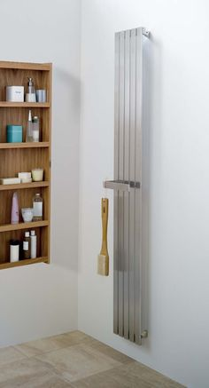 Order this Aeon Lunar Clip on Towel Bar today from Only Radiators at this great price and receive top Customer Care with Free UK Delivery Simple Bathroom Designs, Bathroom Layout, Modern Bathroom Design, Bathroom Ideas, Stainless Steel Radiators, Stainless Steel Railing, Contemporary Radiators, Best Kitchen Design, Bathroom Radiators