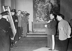The Nazi Looting of Art in Europe. Göring and Hitler admire looted art