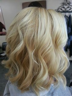Honey blonde and platinum highlights