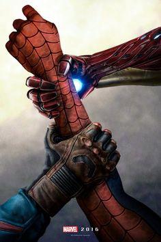 CAPTAIN AMERICA: CIVIL WAR Fan Art - The Struggle For Spider-Man