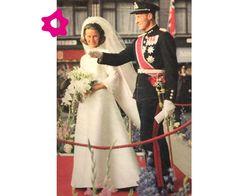 Vestido de novia de Sonia de Noruega
