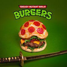 Fat & Furious' Ninja Pizza-Burgers