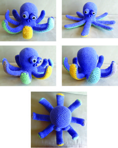 I'm quite fond of this retardo octopus crochet for my friends little boy. I call him Octavian :) Pattern found at wollevirus.de.