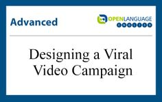 Check out this new lesson to learn English: Advanced - Designing a Viral Video Campaign. Introduction: Do you need to gain traction for your product or service? Try creating a viral video campaign! In today's lesson we'll talk about how viral marketing works, and what makes a viral video that's memorable and unexpected.