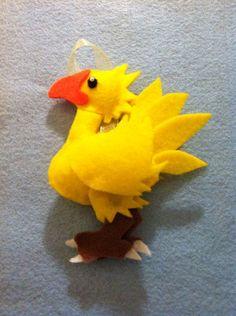 Felt Final Fantasy Chocobo inspired Ornament