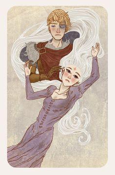 Amalthea and Lir (The Last Unicorn) by *MuZzling on deviantART